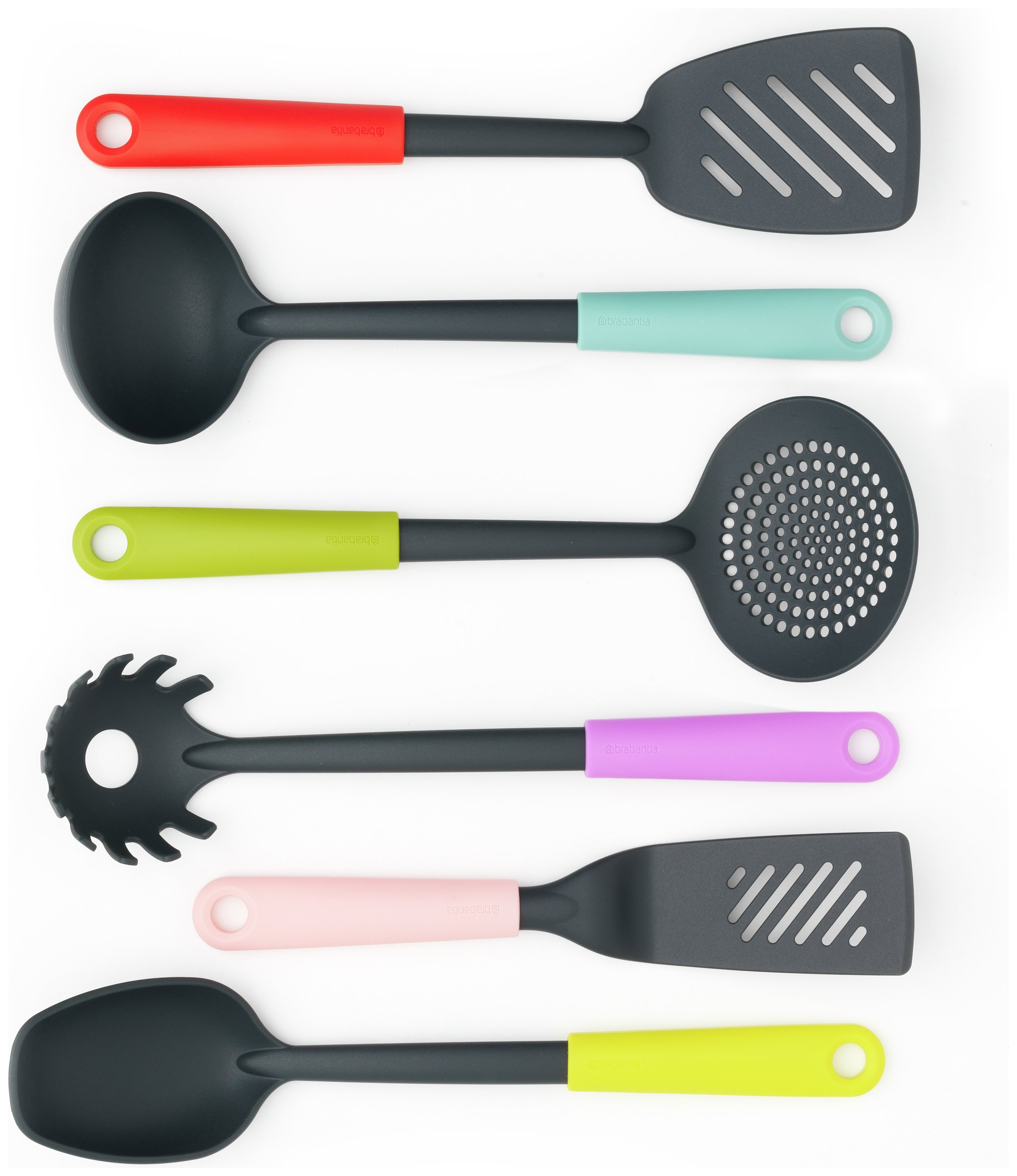 Image of Brabantia 6 Piece Kitchen Utensils Set - Multicoloured