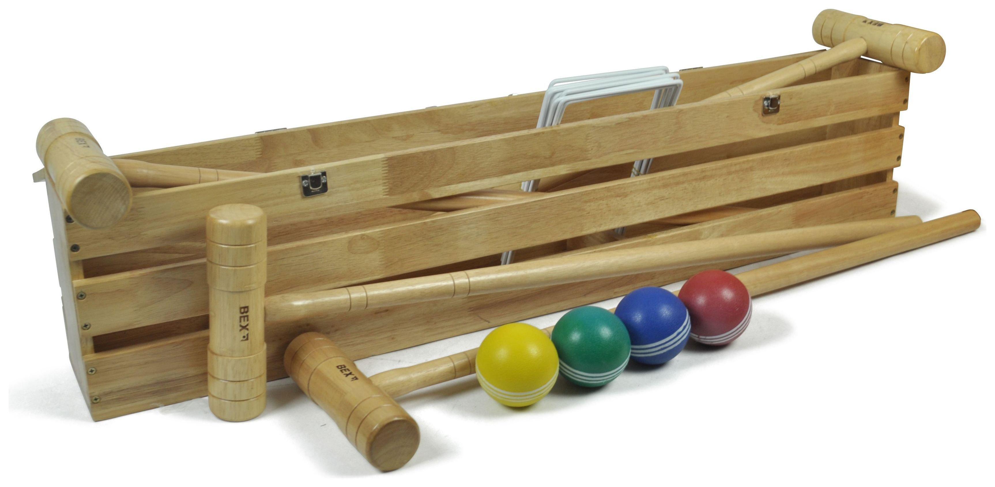 Image of Bex Croquet Set in Wooden Box.