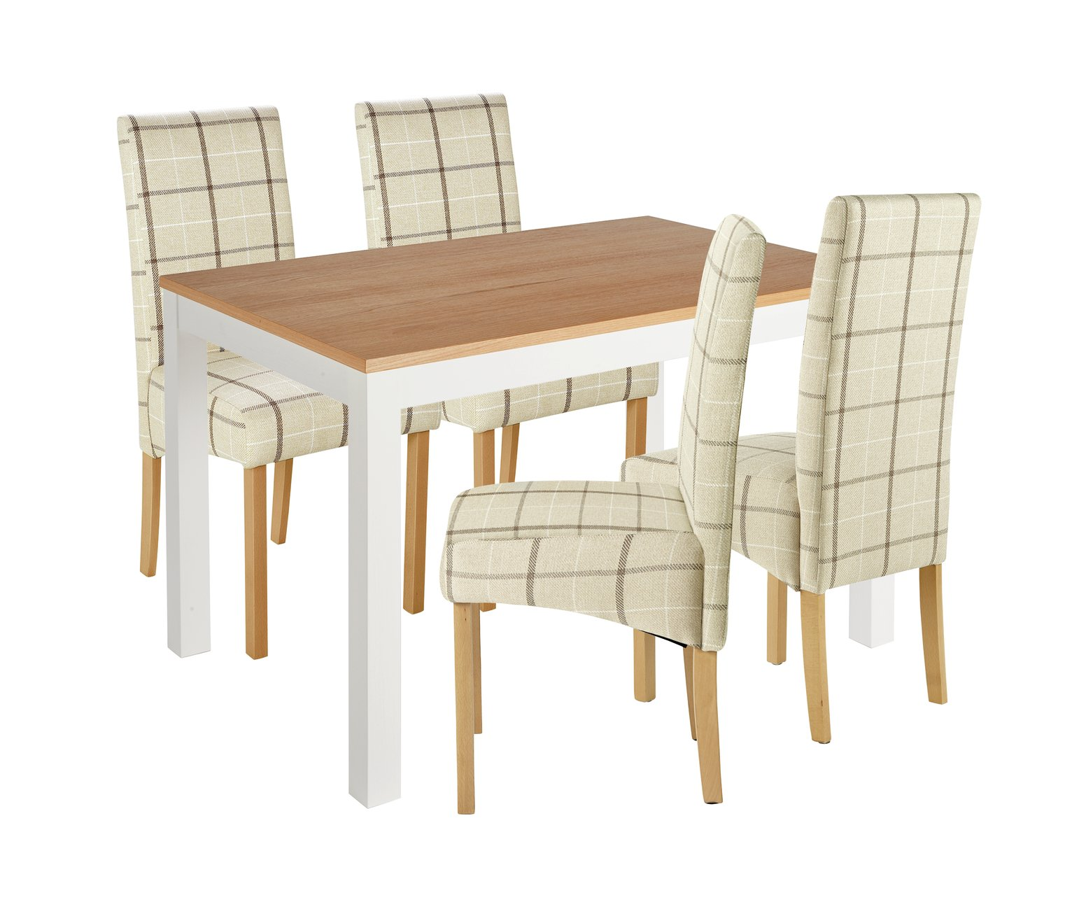 Image of Collection Clifton Two Tone Table & 4 Chairs - Cream Check