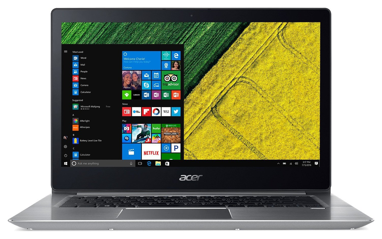 Image of Acer Swift 3 14 Inch I5 8GB 256GB Laptop - Silver
