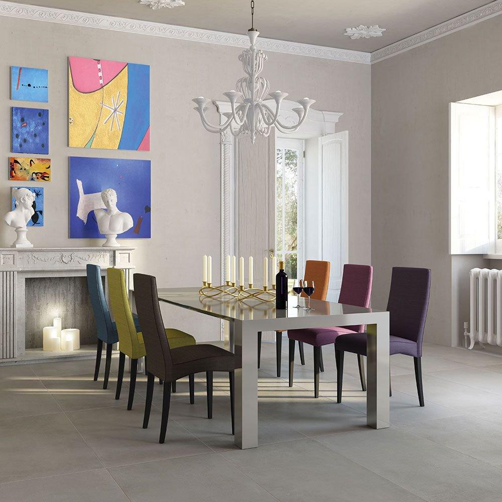 Image of Matt Porcelain Stone Effect Wall and Floor Tile - Grey - 6 Tiles