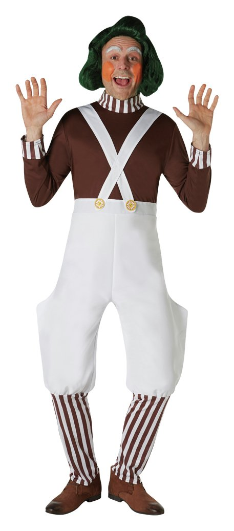 Oompa Loompa Adult's Fancy Dress Costume - One Size