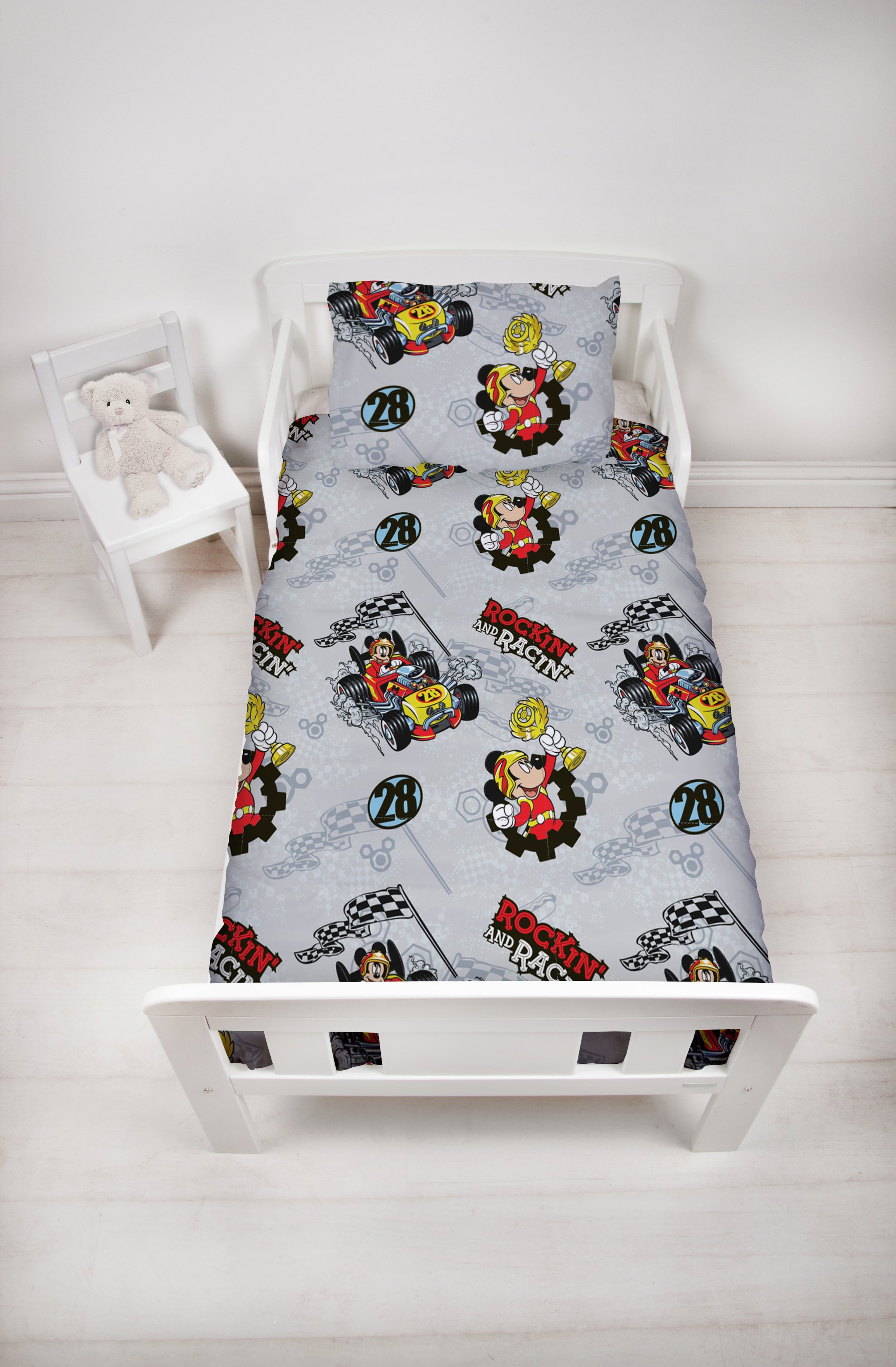 Mickey Mouse Racer Toddler Bed in a Bag Set