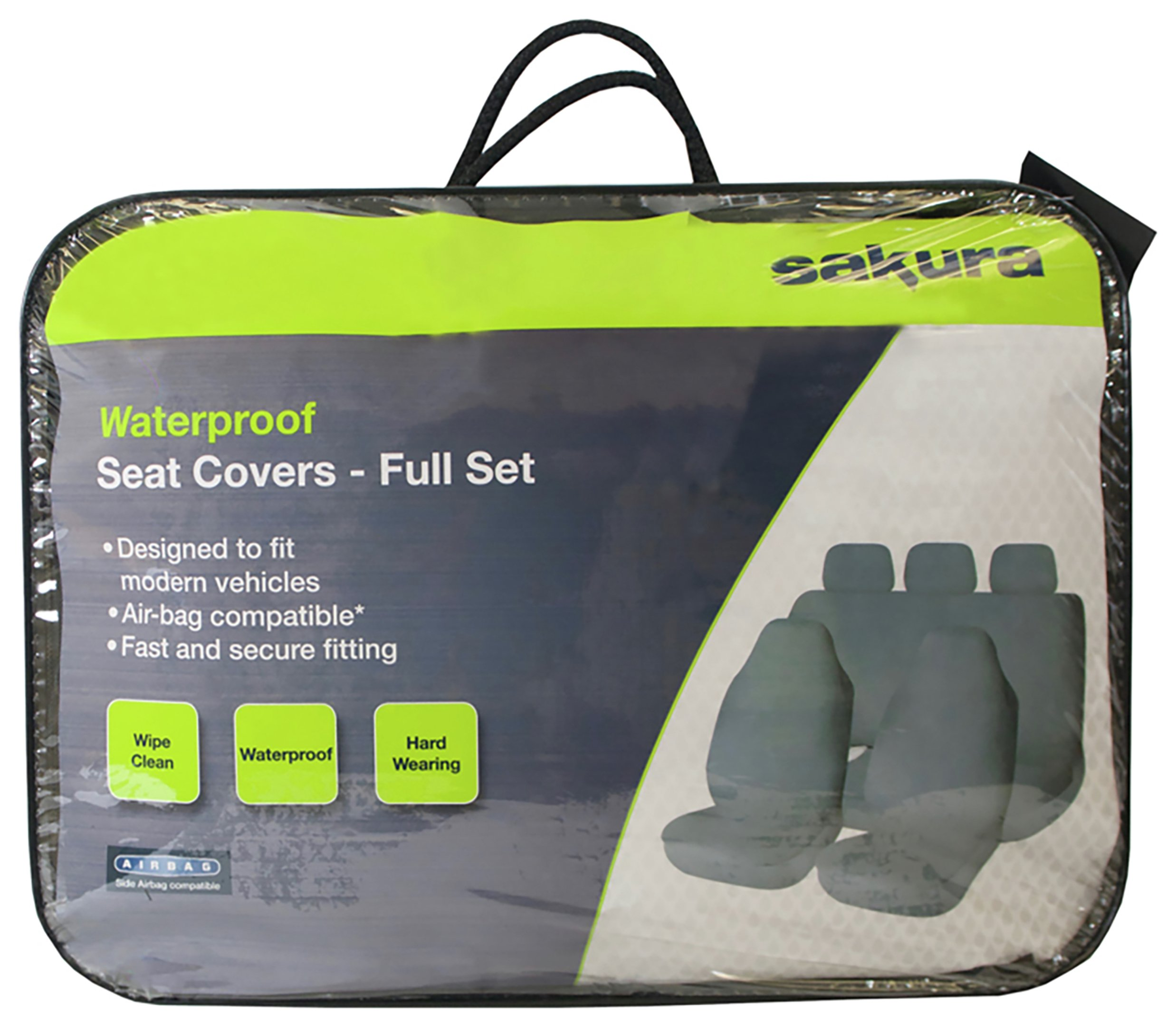 Sakura Waterproof Front and Rear Seat Cover Set