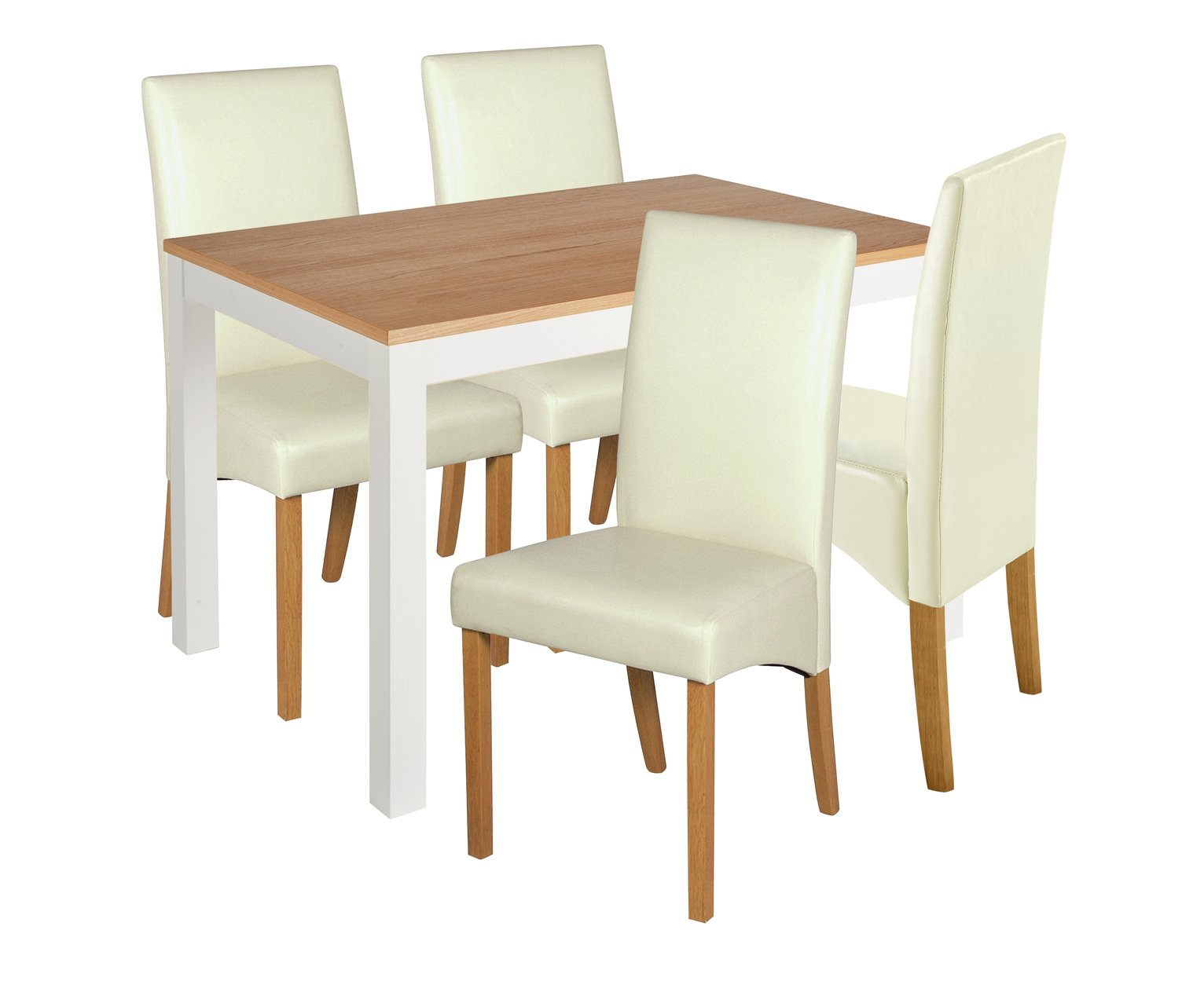 Image of Collection Clifton Two Tone Table & 4 Chairs - Cream