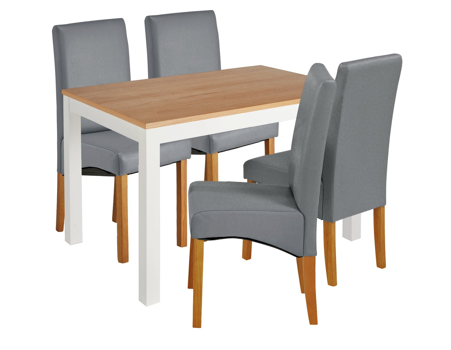 Image of Collection Clifton Two Tone Table & 4 Chairs - Grey