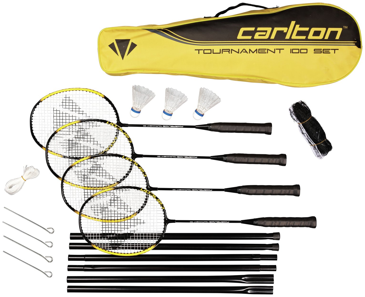 Image of Carlton Powerblade Tournament 4 Person Badminton Set