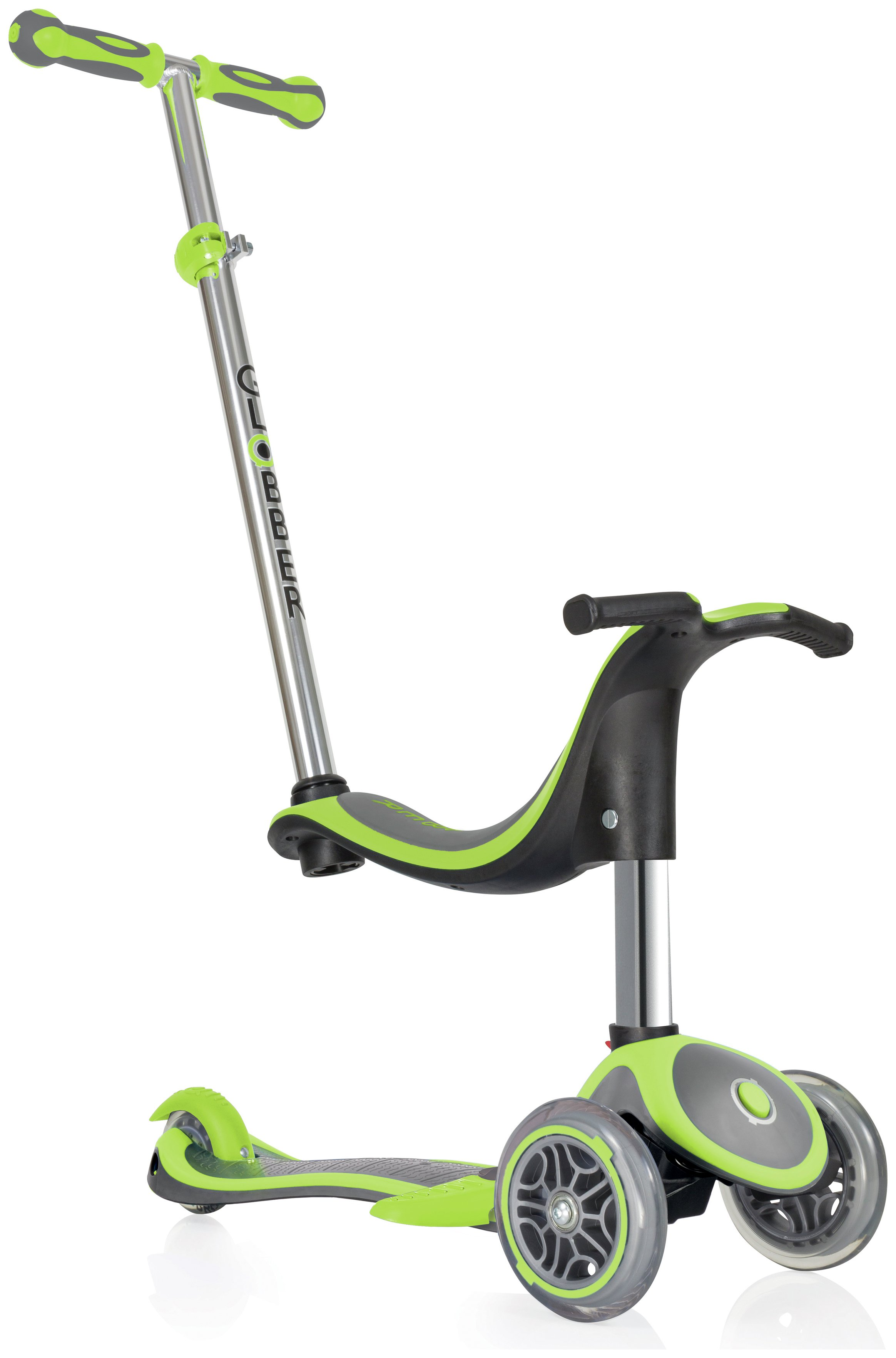 Globber Evo 4-in-1 Plus 3 Wheel Scooter - Lime Green
