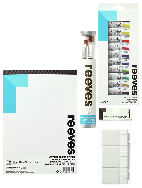 Reeves Watercolour Starter Bundle Pack