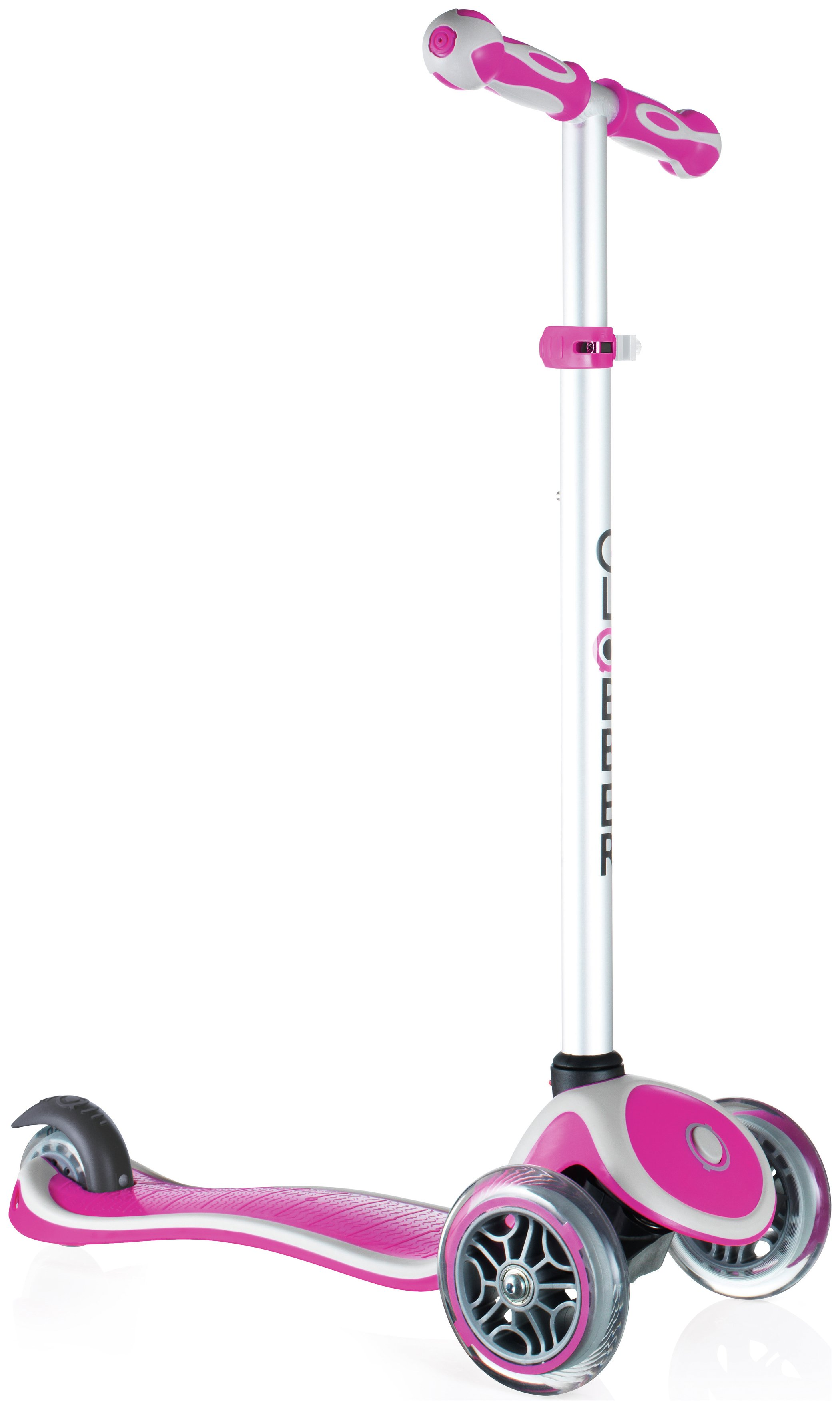 Globber Primo Plus 3 Wheel Scooter - Deep Pink