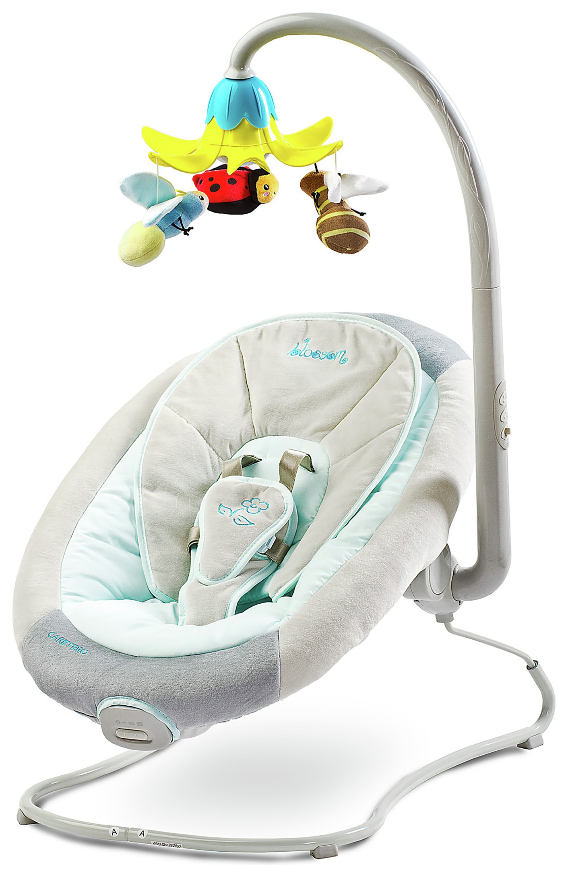 Image of Blossom Baby Bouncer with Carousel Grey