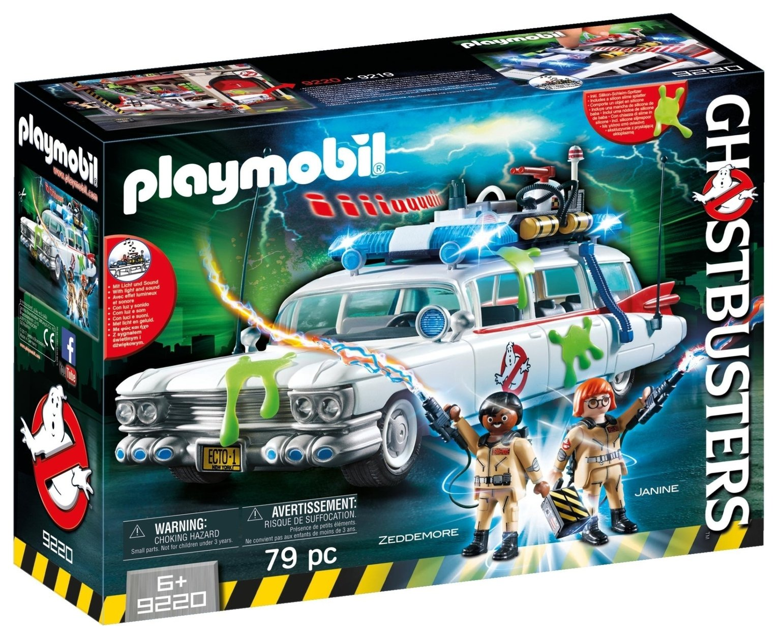 Playmobil 9220 Ghostbusters� Ecto 1 With Lights And Sound