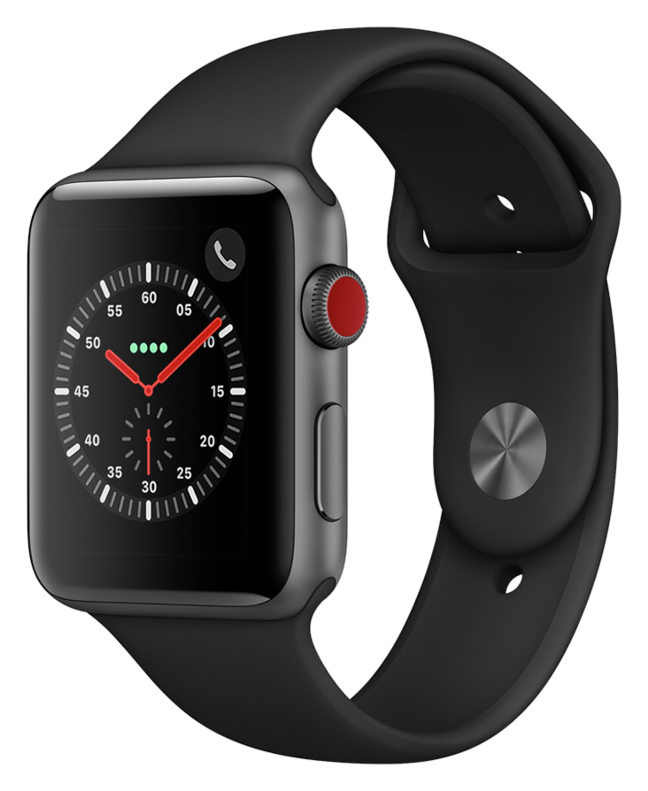 Apple Watch S3 Cellular 42mm - Space Grey Alu / Black Band