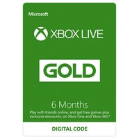 6 Month Xbox Live Subscription