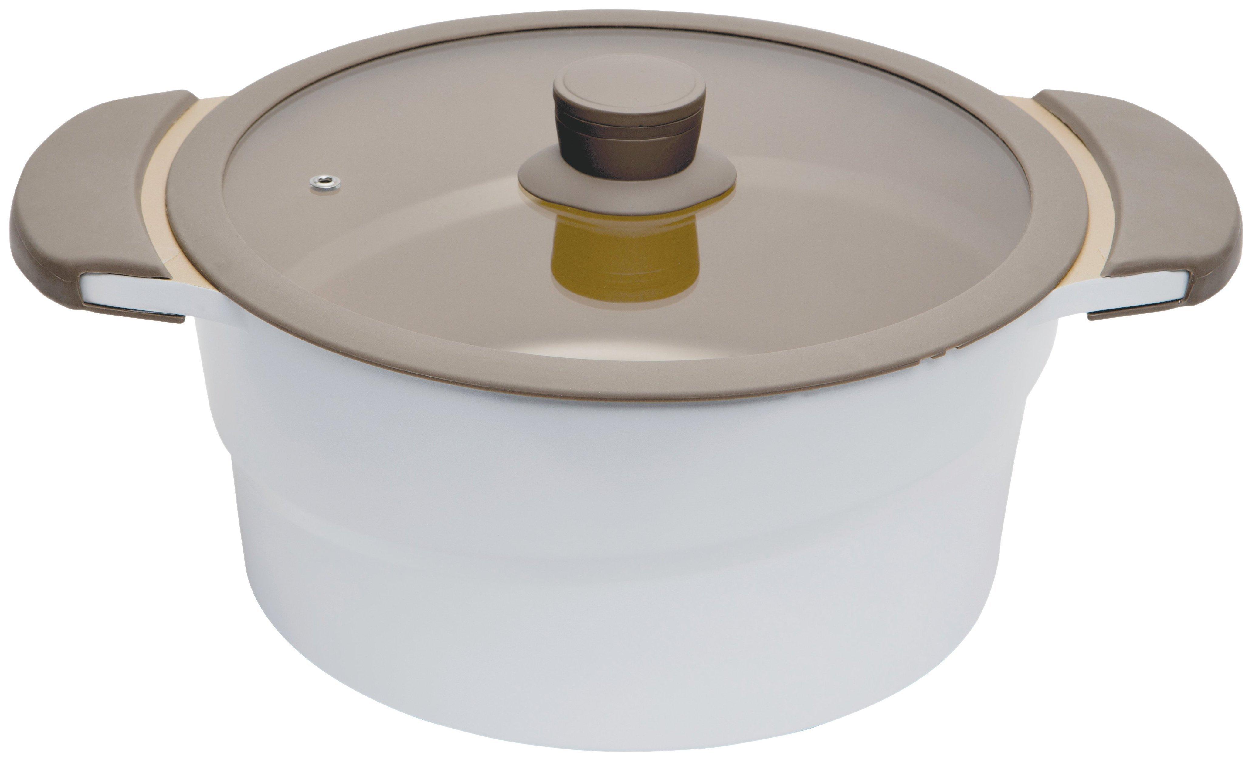 Image of Prestige 24cm Casserole Dish with Glass Lid - 4.6L.