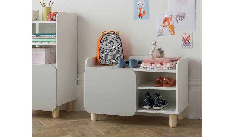 Argos Home Milo Shoe Bench - Grey