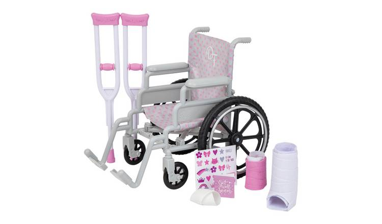 Designafriend Wheelchair and Crutches Playset