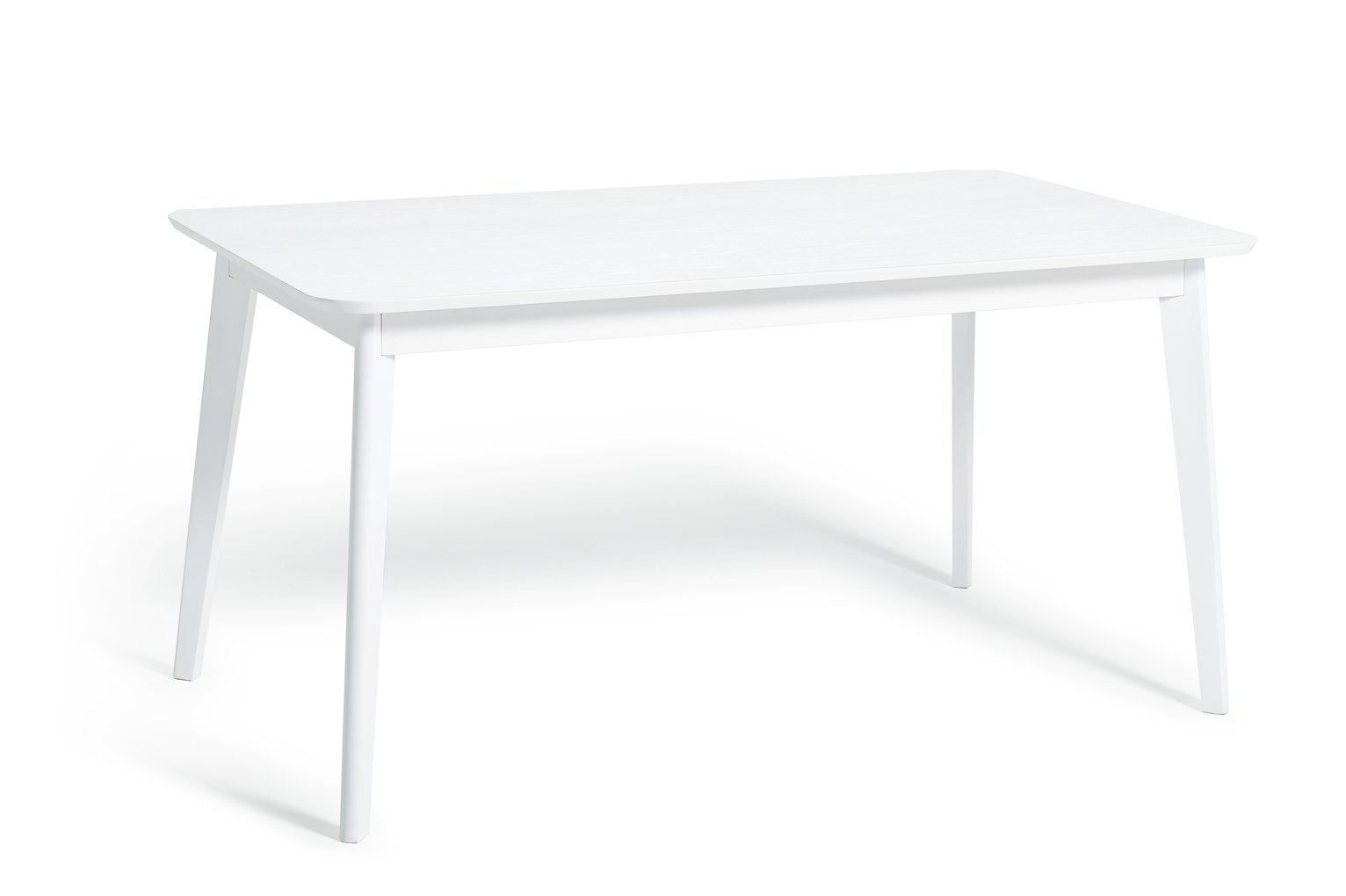 Habitat Skandi Veneer 6 Seater Dining Table - White Oak