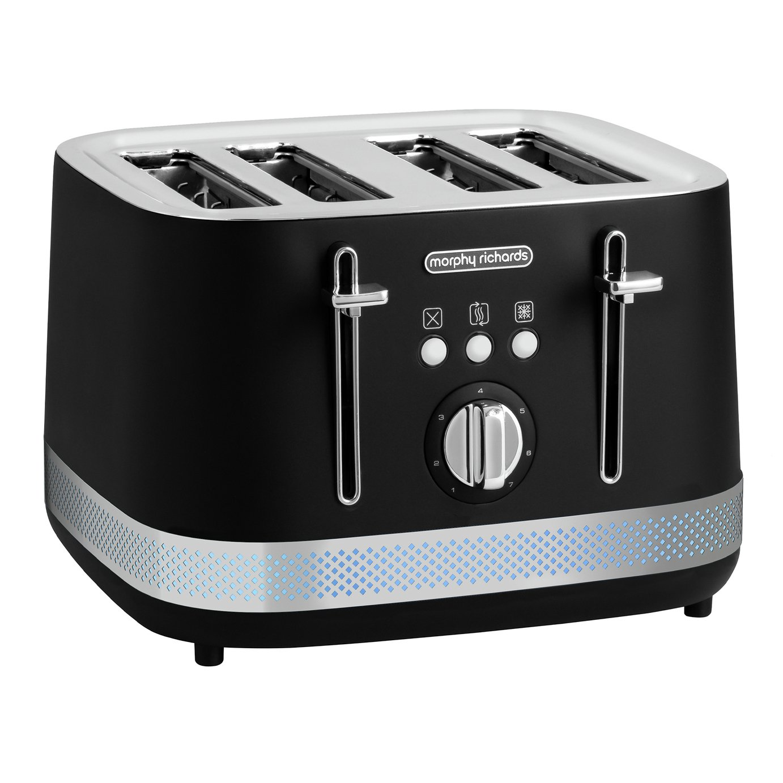 Morphy Richards 248020 Illumination 4 Slice Toaster - Black