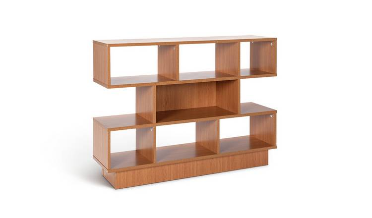 Habitat Cubes 2 Shelf Wide Bookcase - Oak Effect