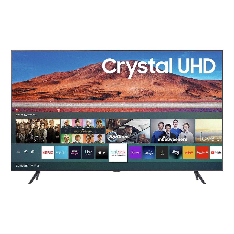 Samsung UE50TU7100 (2020) HDR 4K Ultra HD Smart TV, 50 inch with TVPlus, Silver