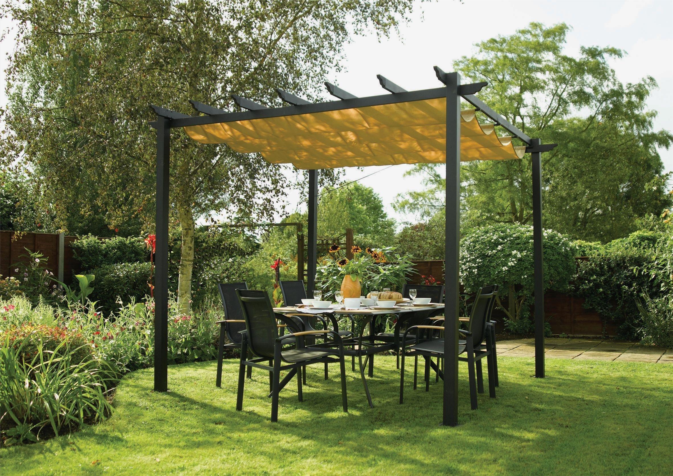 Rowlinson Latina Aluminium Frame Canopy - 9 x 9ft. lowest price