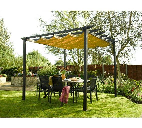 Buy Rowlinson Latina Aluminium Frame Canopy - 9 x 9ft at ...