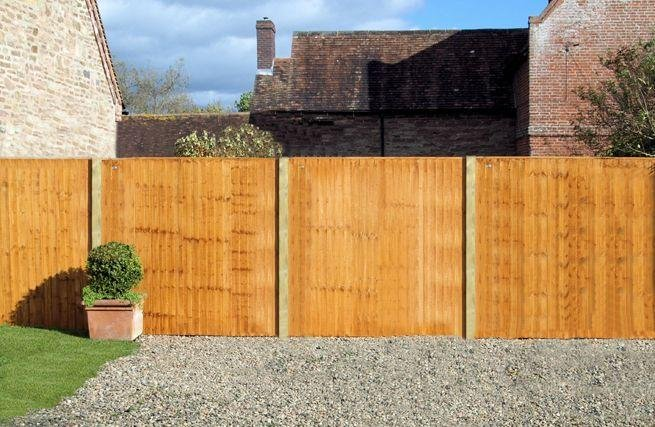 Standard Featheredge Panel - 1.83m x 1.5m - Pack of 4.