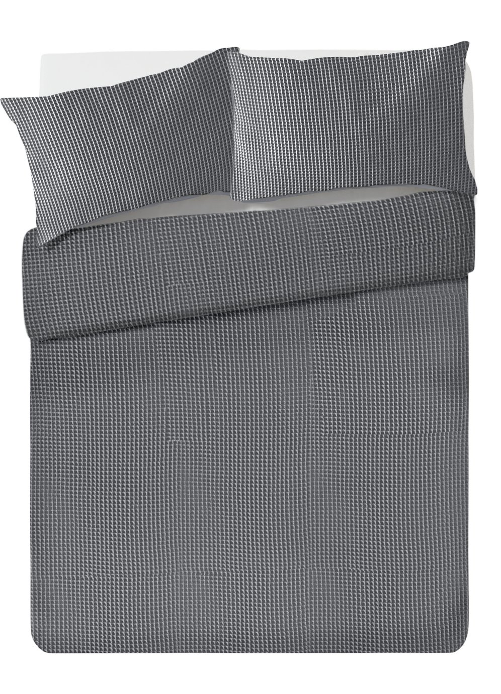 Argos Home Grey Waffle Bedding Set - Double
