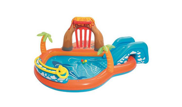 Chad Valley 8.5ft Volcano Activity Kids Paddling Pool - 208L