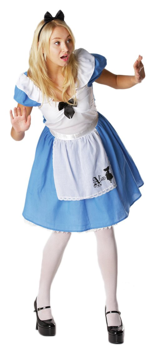 Image of Alice in Wonderland Adult's Fancy Dress Costume - One Size