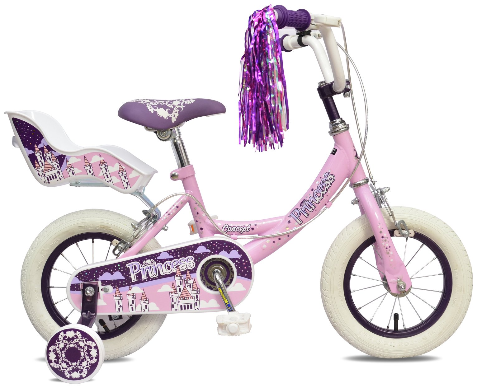 Image of Concept 8.5 Inch Kids Bike - Princess