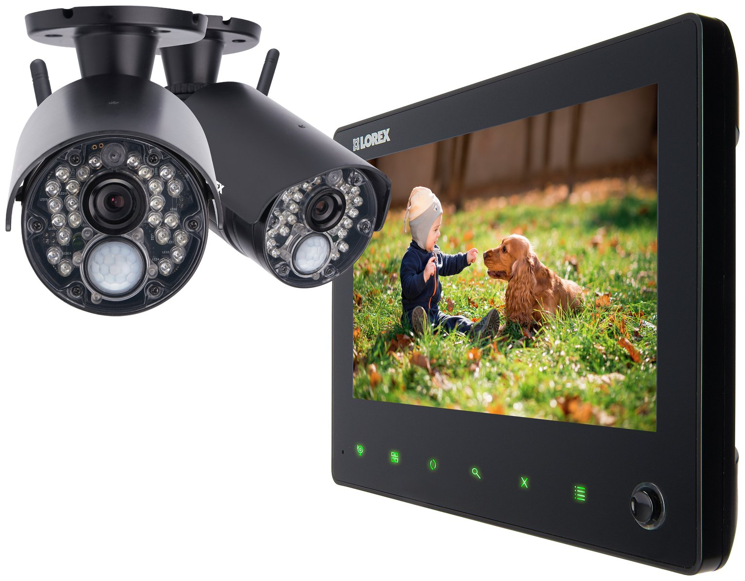Image of Lorex 7 LCD Wireless CCTV with 2 Cameras