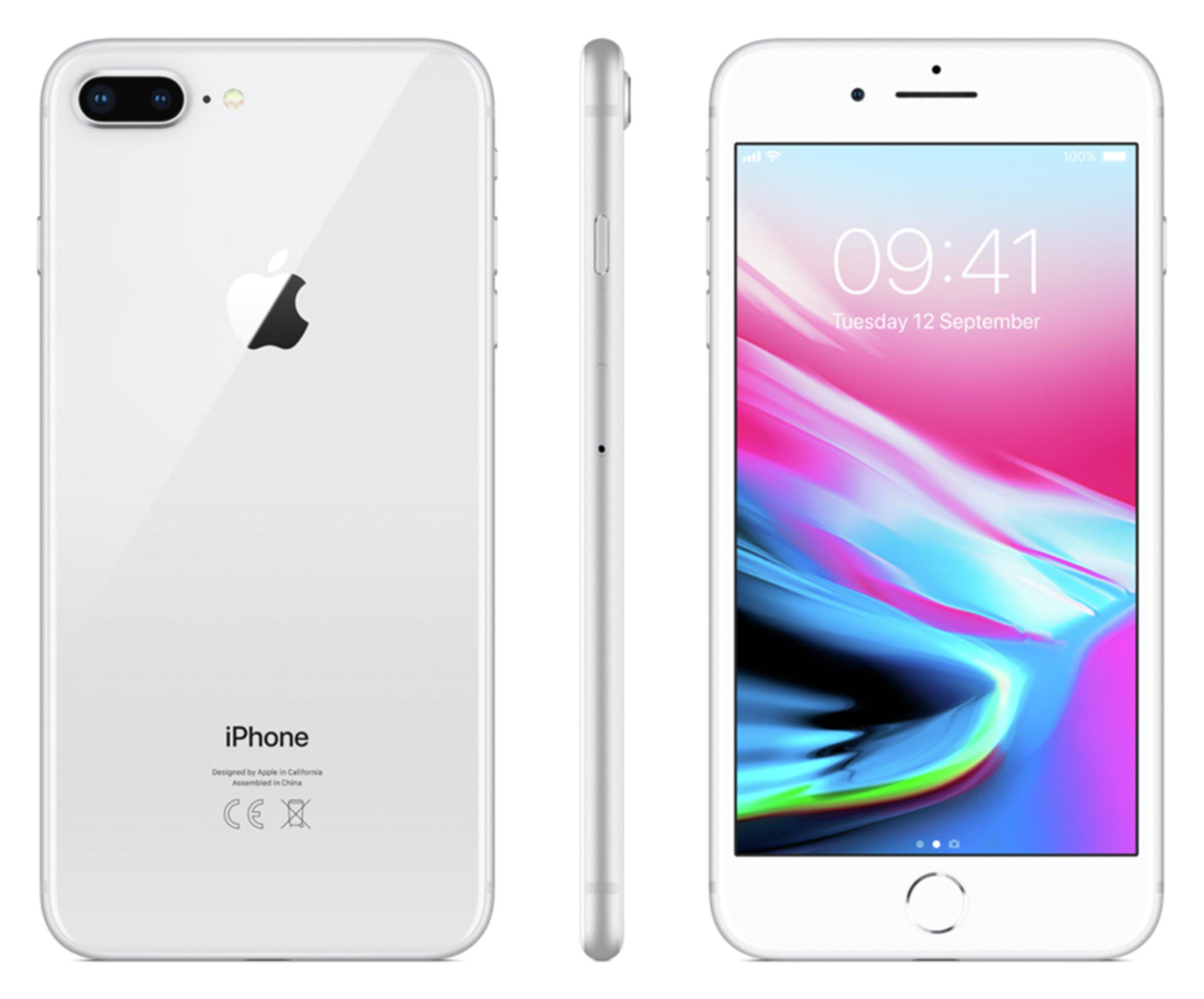 Buy Sim Free Iphone 8 Plus 64gb Mobile Phone Silver Sim Free