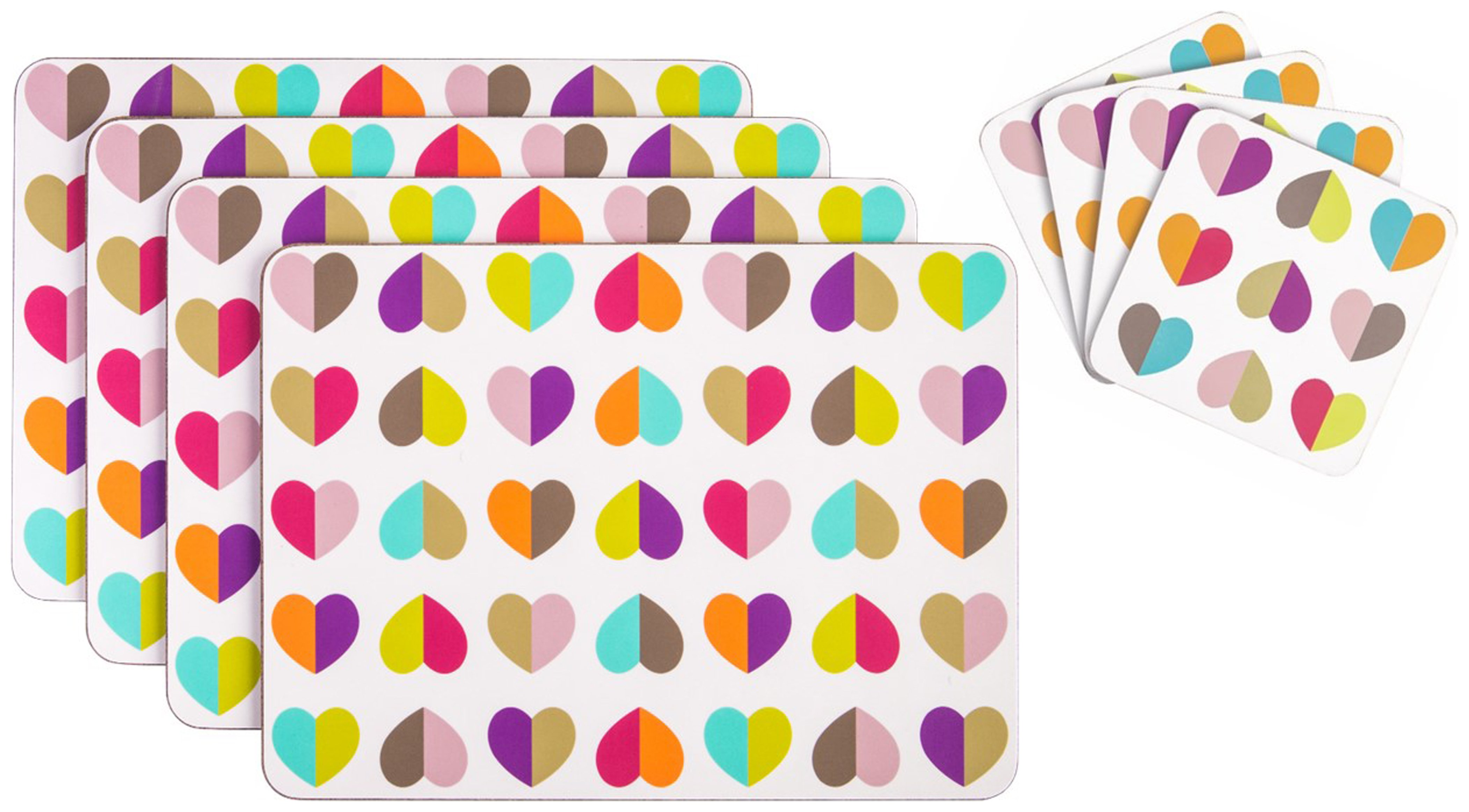 Image of Beau and Elliot Confetti Set of 4 Placemats and Coasters.