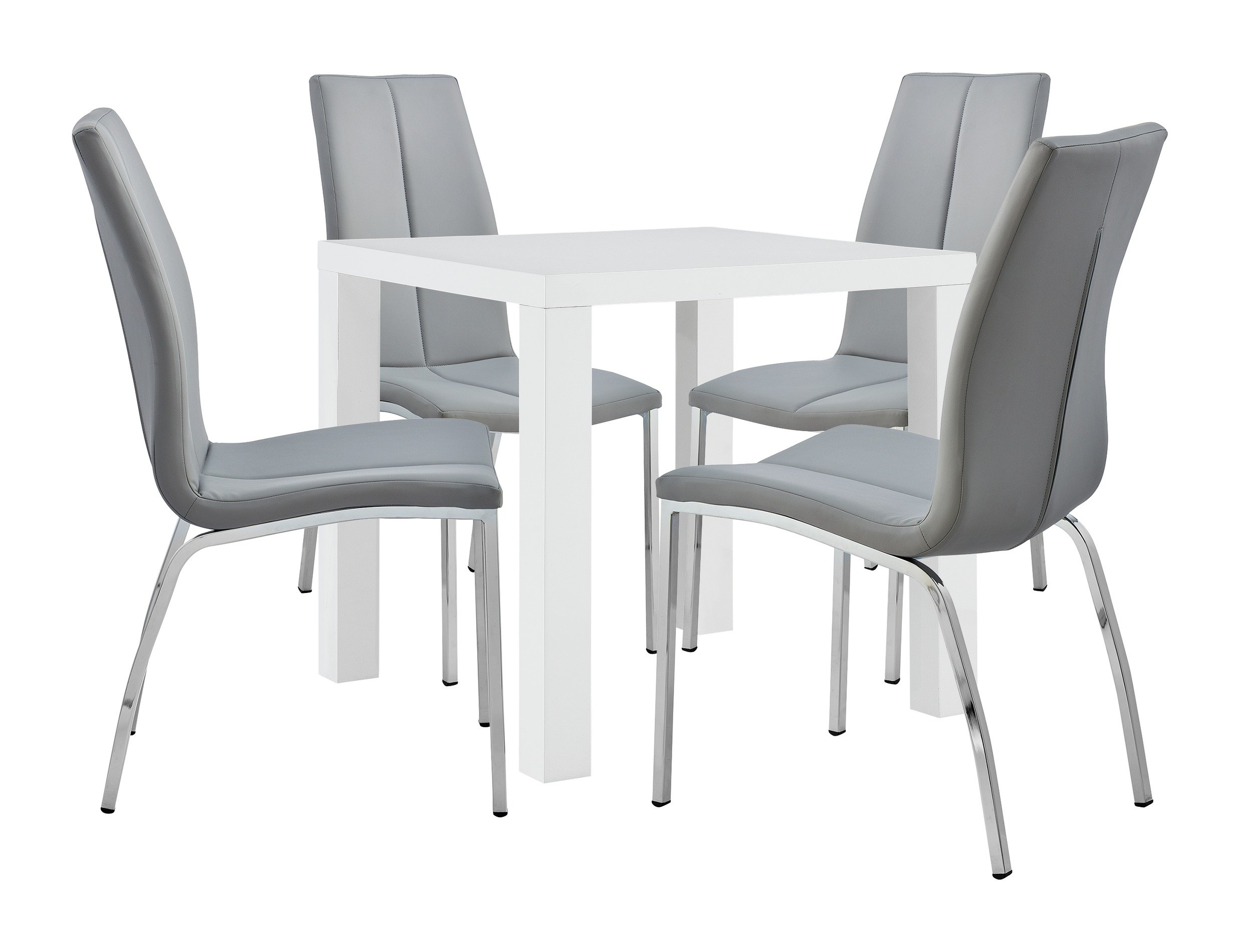 Buy Argos Home Lyssa Dining Table U0026 4 Milo Chairs   Grey | Dining Table And  Chair Sets | Argos