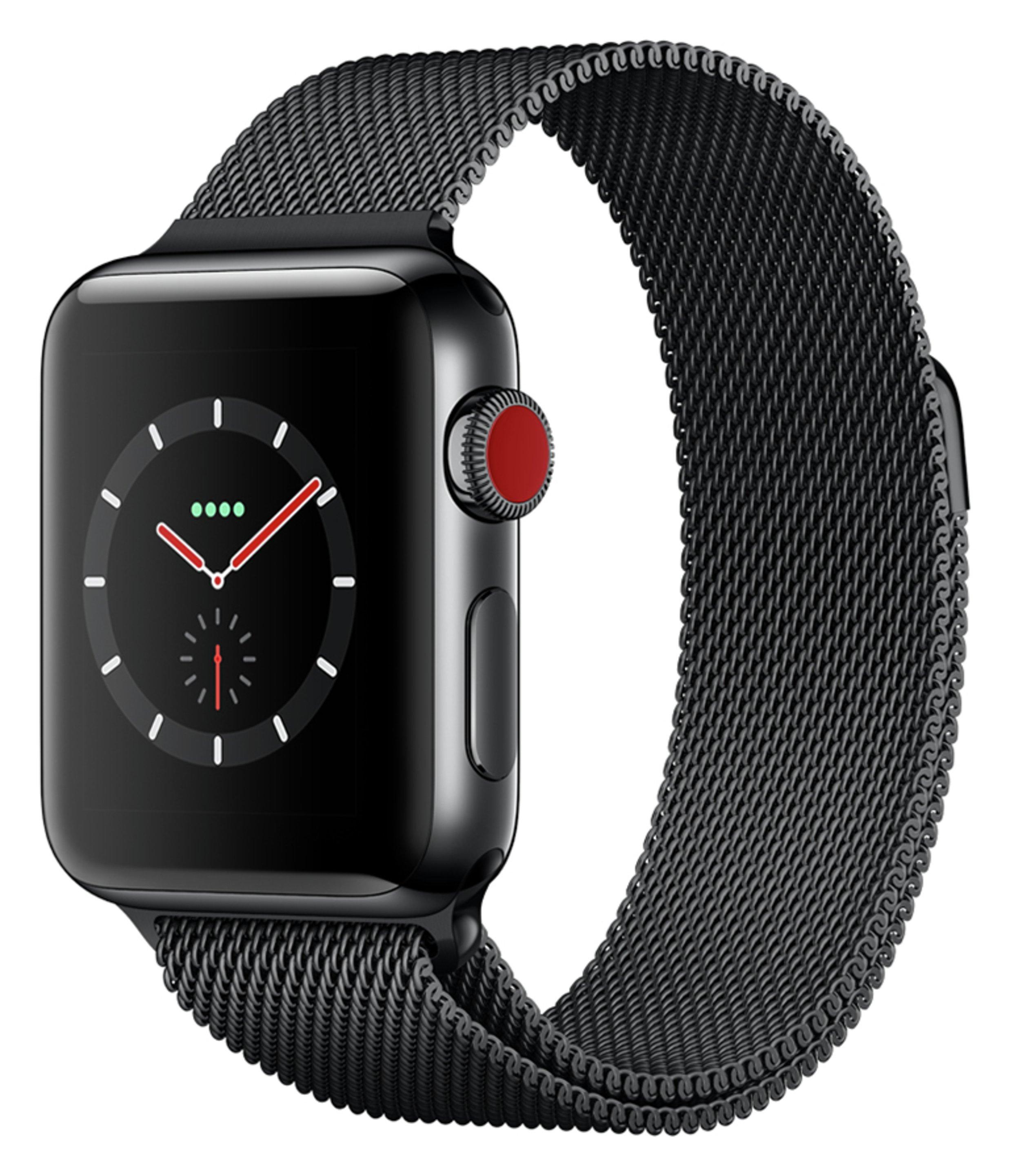 Apple Apple Watch S3 Cellular 38mm - Black S/Steel / Milanese Loop