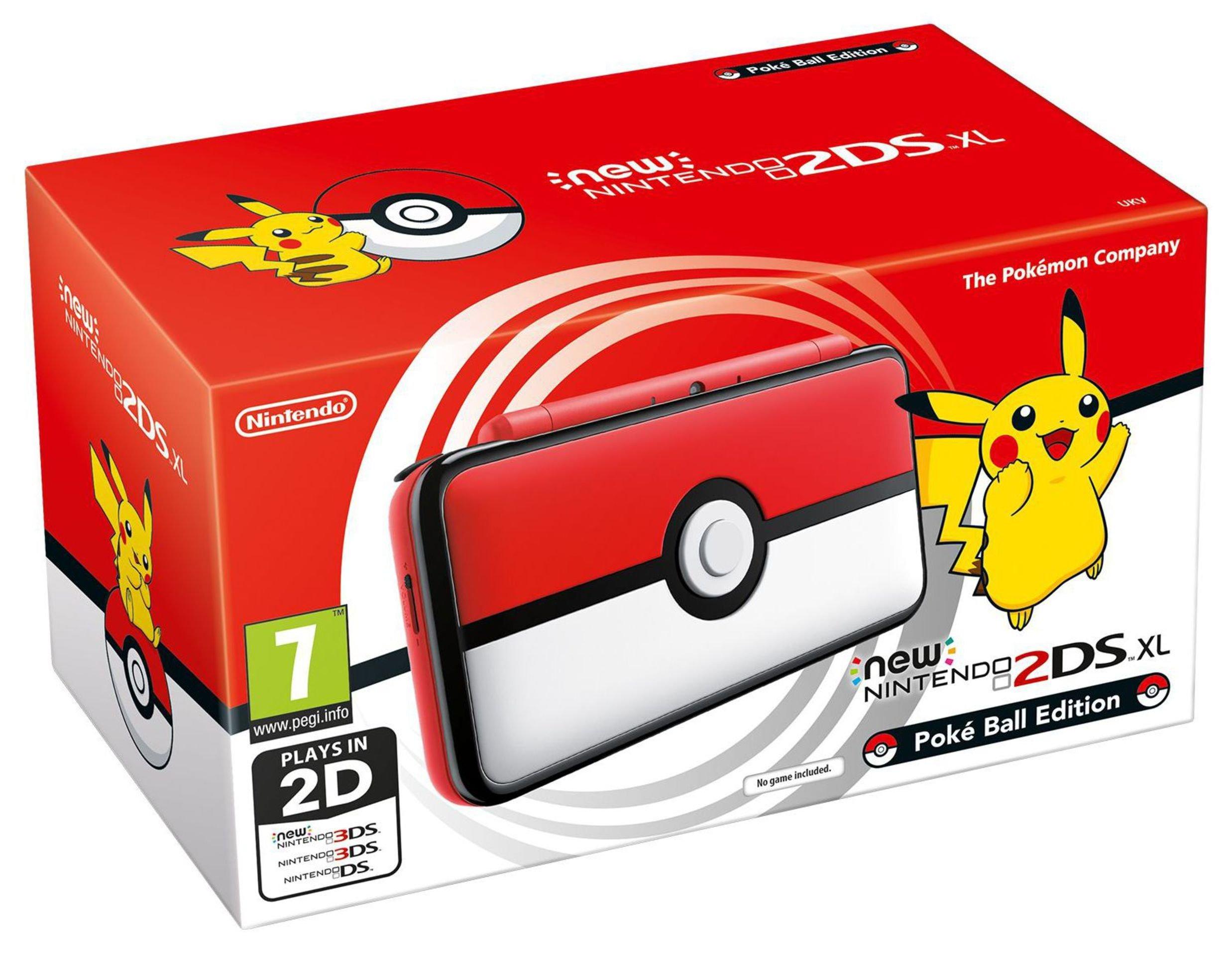 New Nintendo 2DS XL Pokeball Pokemon Edition