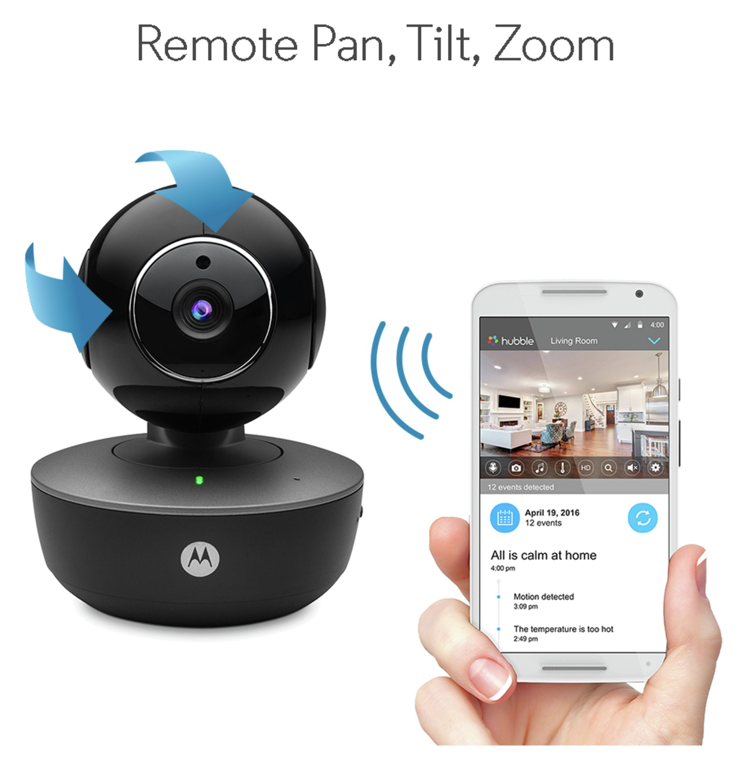Image of Motorola Focus 88 Connect Portable Home Camera
