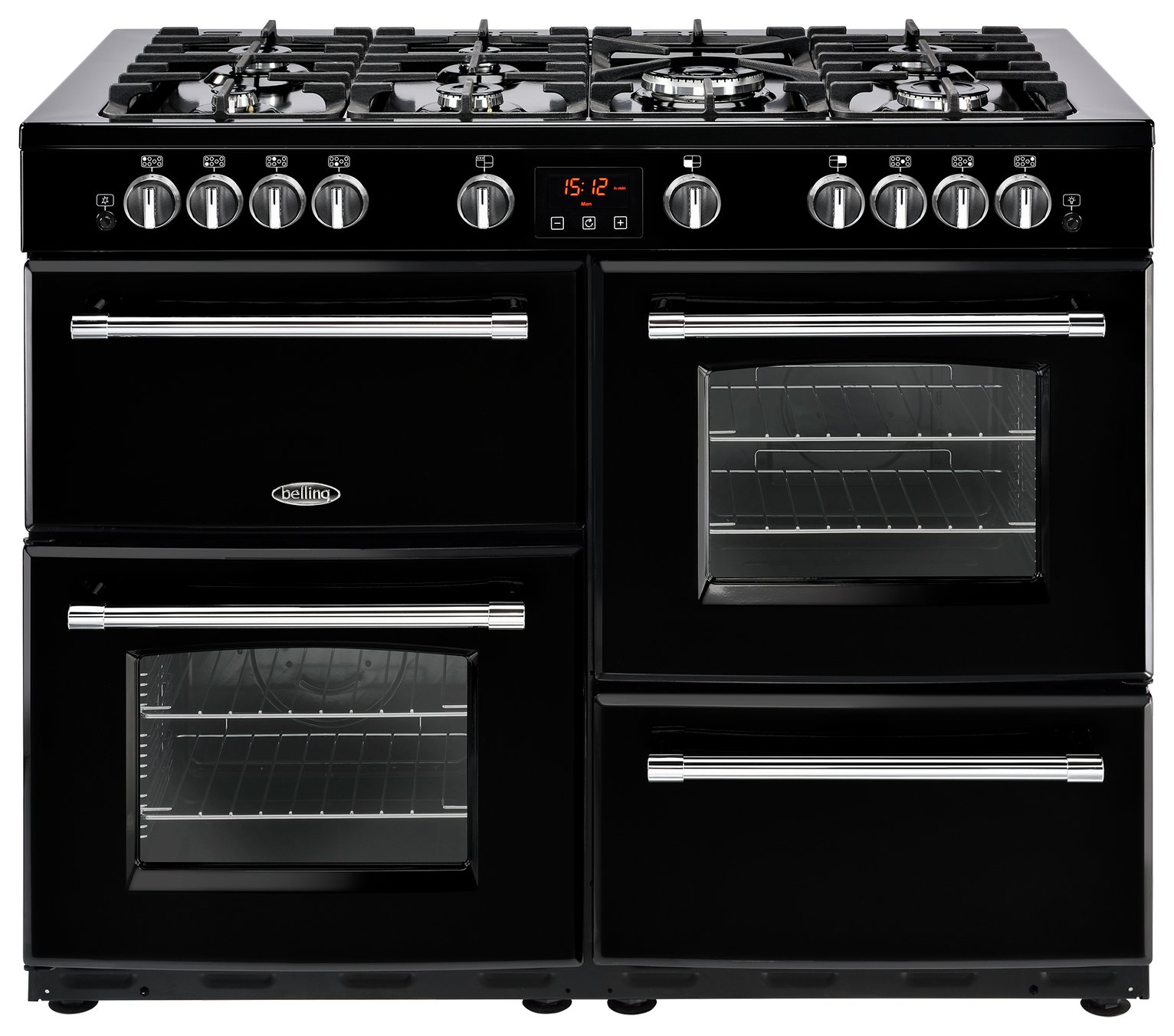 Belling Farmhouse 110DF Dual Fuel Range Cooker - Black