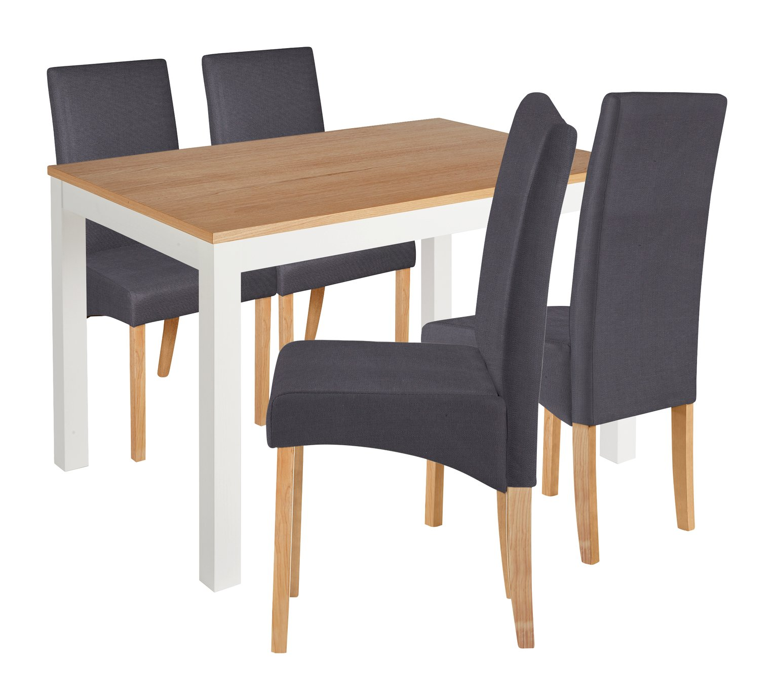 Image of Collection Clifton Two Tone Table & 4 Chairs - Charcoal