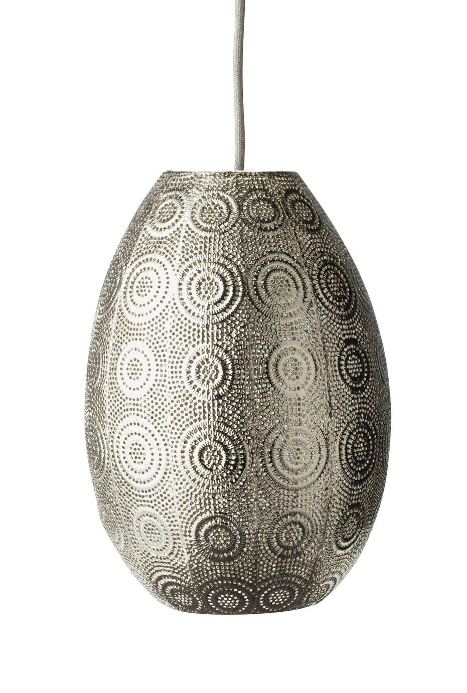 Argos Home Emly Metal Oval Fretwork Pendant - Satin Nic