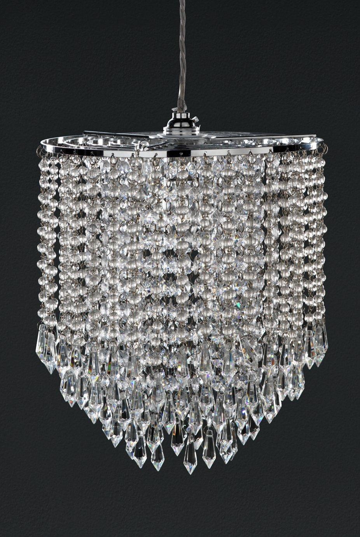 Argos Home Knighton Beaded Glass Lampshade - Chrome