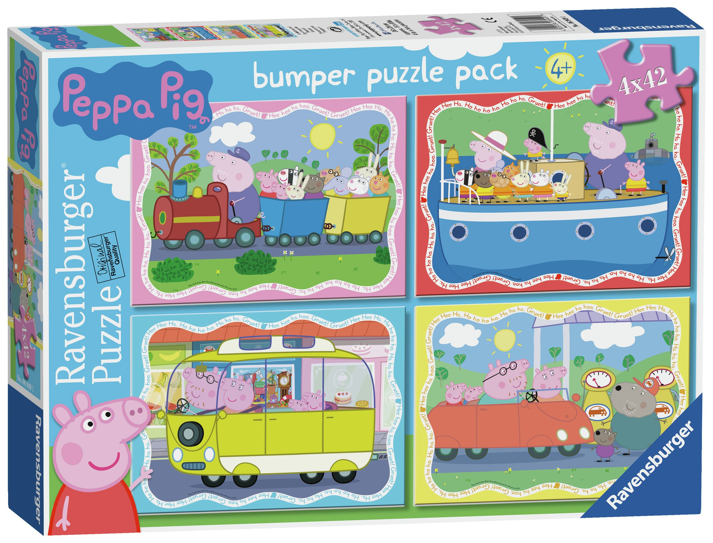 Image of Ravensburger Peppa Pig 42 Piece Puzzle - 4 Pack