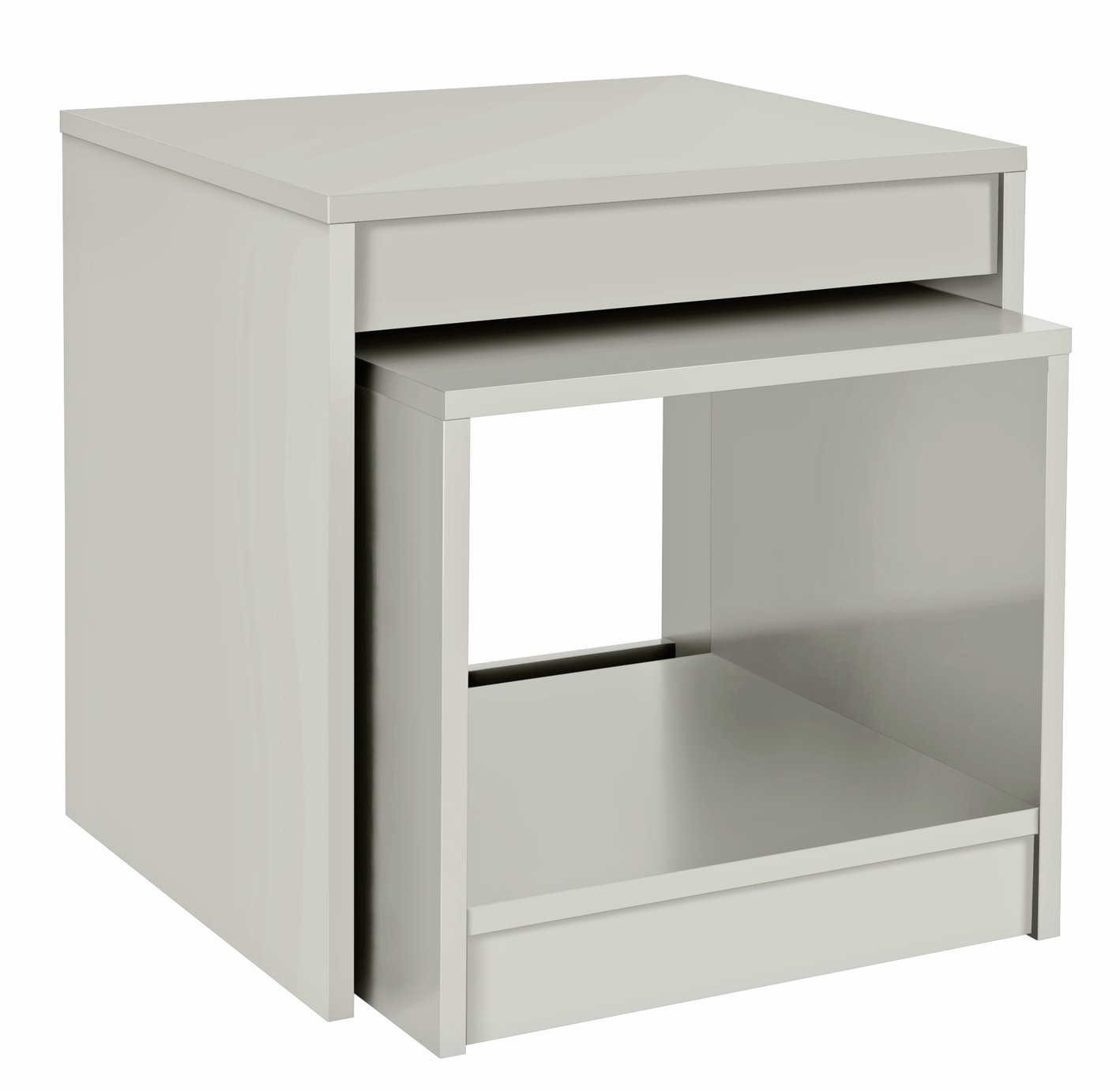 HOME Maine Nest of 2 Tables - Grey