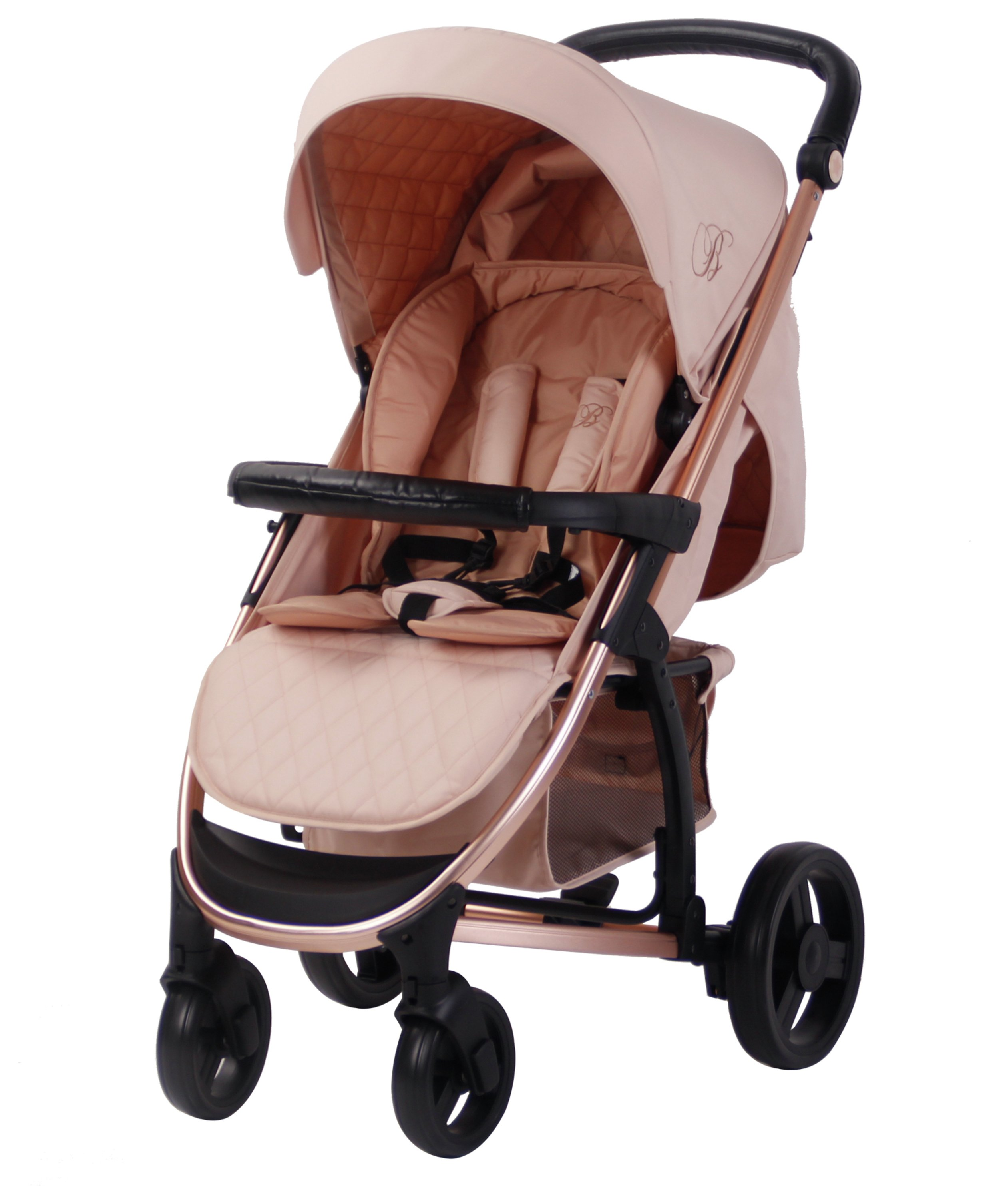 For-Your-Little-One Fur Hood Trim Pram Compatible on Zooper Black