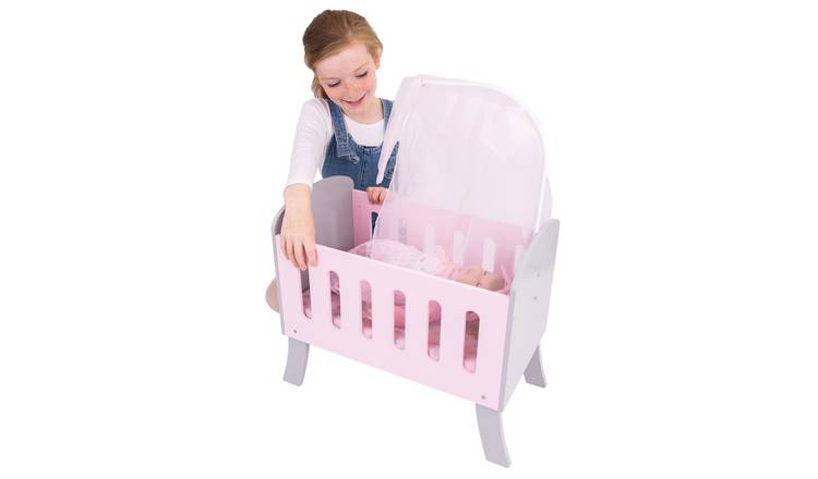 Tiny Treasures Wooden Dolls Cot