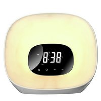 Groov-e Light Curve Wake Up Clock Radio - White