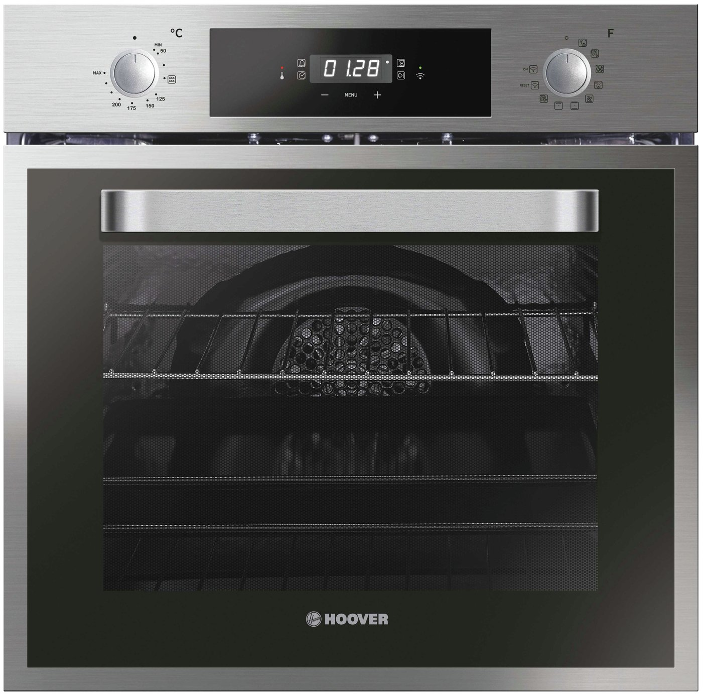Hoover HOE3184IN WIFI Wifi Connected Built In Electric Single Oven - Stainless Steel Effect - A+ Rated