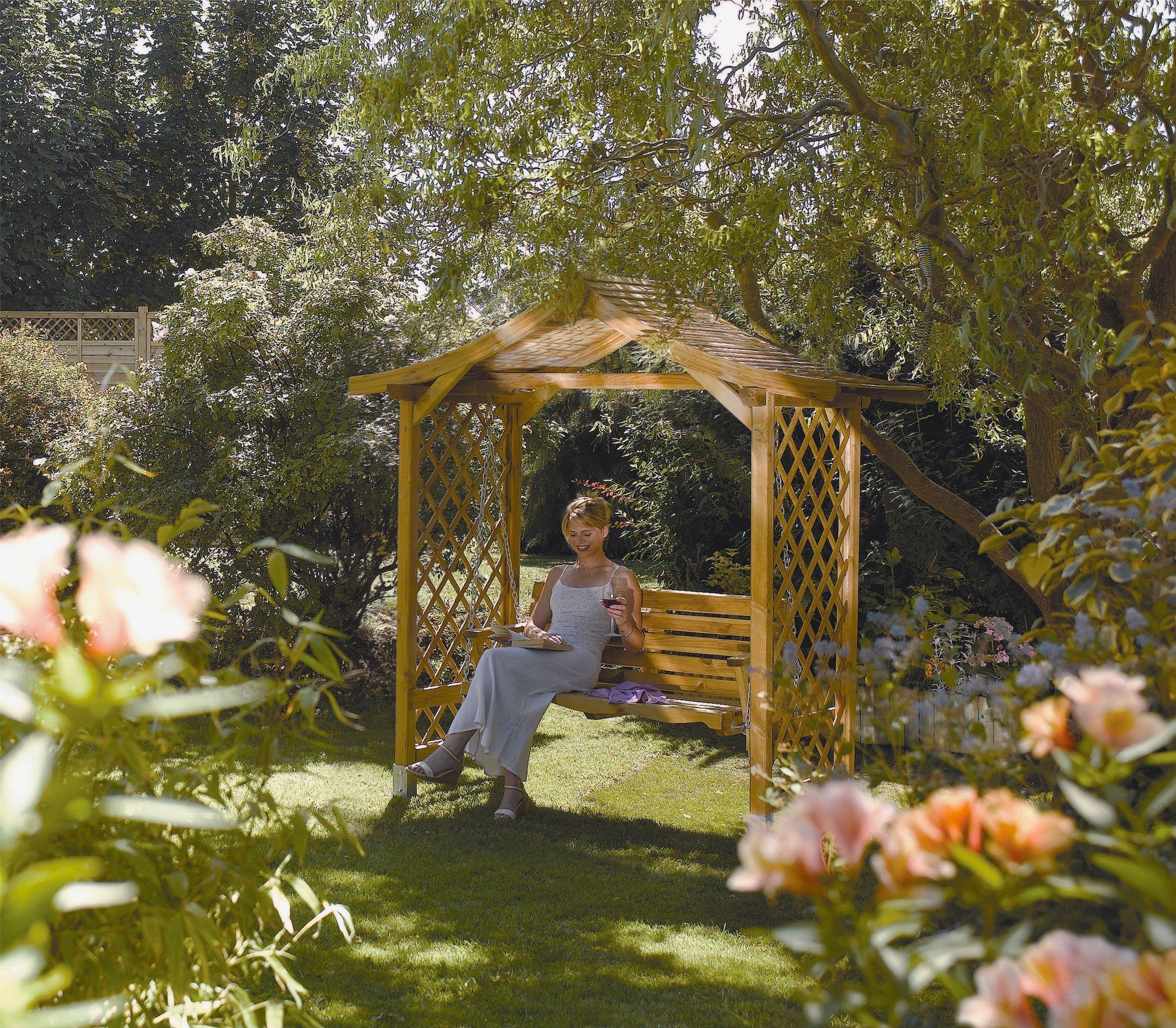 Rowlinson Dartmouth Garden Swinging Seat - Brown. lowest price